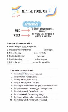 Interactive worksheet Relative Pronouns Who- Which