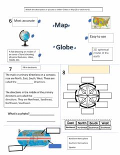 Interactive worksheet Basic Map Skills