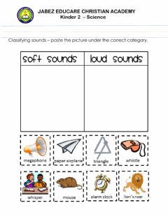 Interactive worksheet Sense - sound and smell