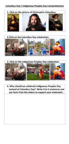 Interactive worksheet Columbus-Indigenous Peoples Day