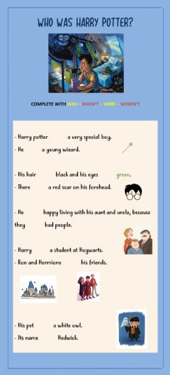 Interactive worksheet The boy who lived.