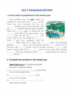 Interactive worksheet Level 2 File 2 Grammar and Vocabulary