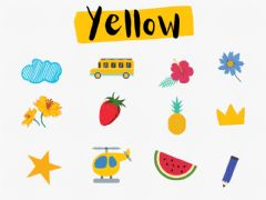 Interactive worksheet Color yellow