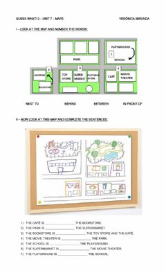 Interactive worksheet Guess What! 2 - Unit 7 - Maps