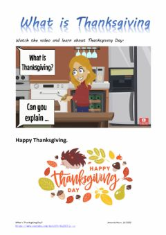 Interactive worksheet What is Thanksgiving