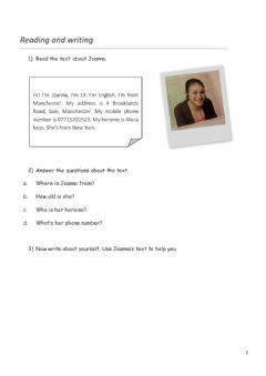 Interactive worksheet Countries and Nationalities - Reading and Writing