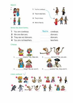Interactive worksheet Fly high 2 we-you-they