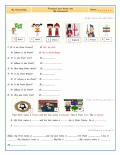 Interactive worksheet Lesson 1