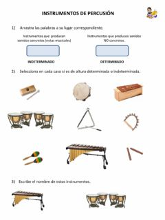 Interactive worksheet Instrumentos de Percusión
