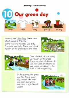 Ficha interactiva Reading - Our green day