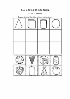 Interactive worksheet Maths 3d shapes