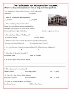 Interactive worksheet The Bahamas an Independent Country