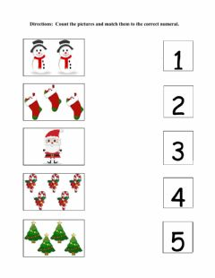 Ficha interactiva Christmas Counting 1-5