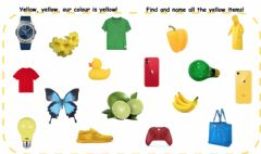 Interactive worksheet Yellow, yellow, our colour is yellow!!