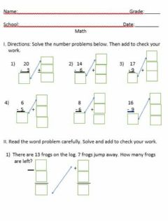 Interactive worksheet Using addition to check subtraction