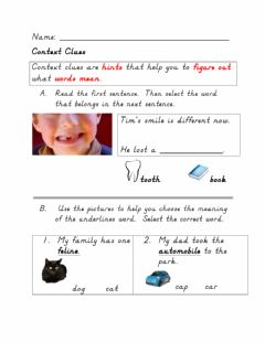 Interactive worksheet Context Clues - Intro
