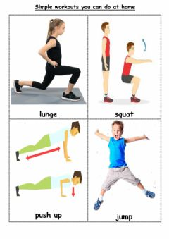 Interactive worksheet Home workouts