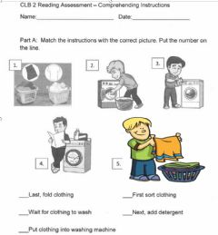 Interactive worksheet Instructions on how to do Laundry
