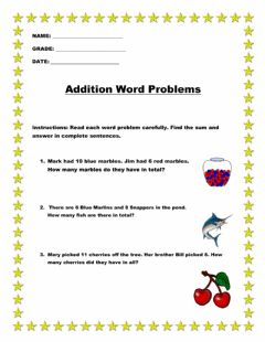 Interactive worksheet Grade 2 word problems