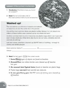 Interactive worksheet Recycled materials