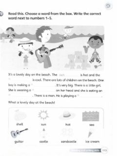 Interactive worksheet Superminds workbook: At the beach pg 113