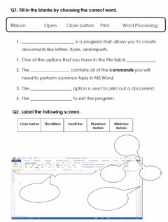 Interactive worksheet Chapter 5-MS Word- Exercise 5