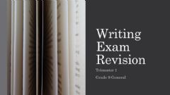 Ficha interactiva Grade 9 General Writing Review