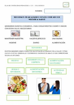 Interactive worksheet 11-11 alimentacion saludable