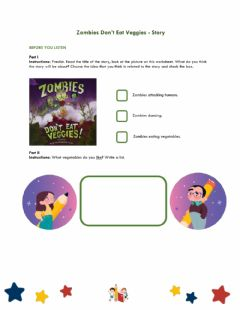 Ficha interactiva Zombies Don't Eat Veggies - Story Time