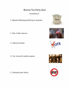 Interactive worksheet Boston Tea Party Vocabulary-2