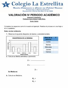 Interactive worksheet Valoracion academica 5º estadistica