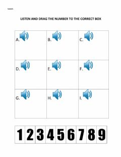 Interactive worksheet Numbers 1-9