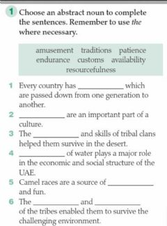 Interactive worksheet Traditions and values