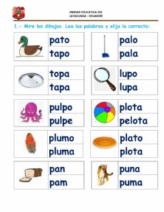 Interactive worksheet Fonema p