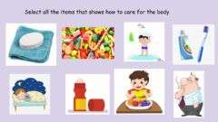 Interactive worksheet How to care for the body