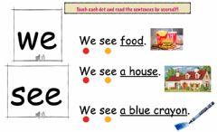 Interactive worksheet Sight words -we- and -see-
