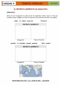 Interactive worksheet Conjugación pretérito imperfecto  indicativo