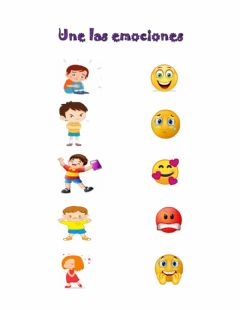 Interactive worksheet Las emociones