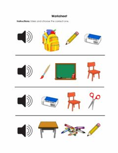 Interactive worksheet School Items No. 2