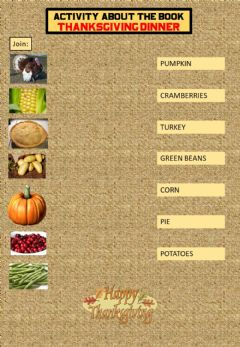 Interactive worksheet Thanksgiving dinner book