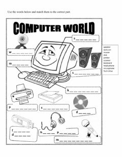 Interactive worksheet Computer World
