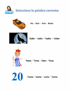 Interactive worksheet Difonos vocalicos