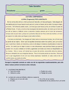 Interactive worksheet Luvina lectura comprensiva
