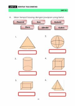 Interactive worksheet Bentuk