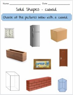 Interactive worksheet Solid Shapes - Cuboids