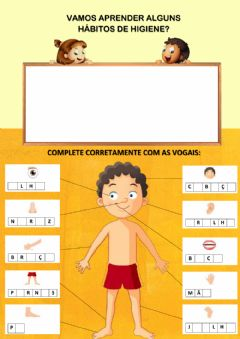 Interactive worksheet Partes do corpo