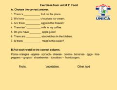 Interactive worksheet Countable and Uncountable Nouns