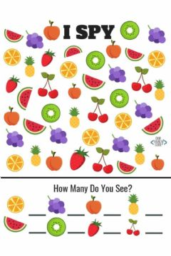 Interactive worksheet How many fruits do you see?