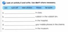 Interactive worksheet Rules
