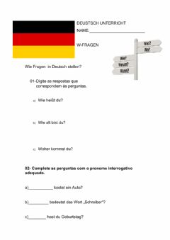 Interactive worksheet W-fragen